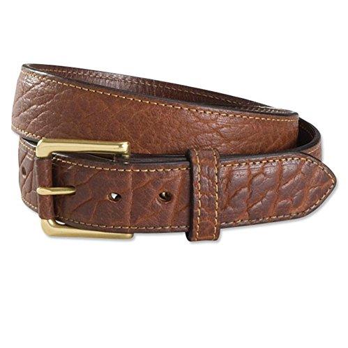 Orvis Bison Leather Jeans Belt, 36 Detailed Leather Belt