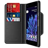 Google Pixel 2 Wallet Case, Maxboost [Folio Style] Premium Google Pixel 2 Card Cases Stand Feature [Black] Protective PU Leather Flip Cover with Card Slot + Side Pocket Magnetic for Pixel 2 (2017)