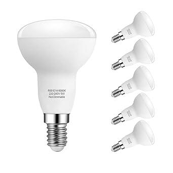 E14 Bombillas LED, 5W R50 Reflector Bombillas LED, 40W Bombillas incandescentes equivalentes, Blanco