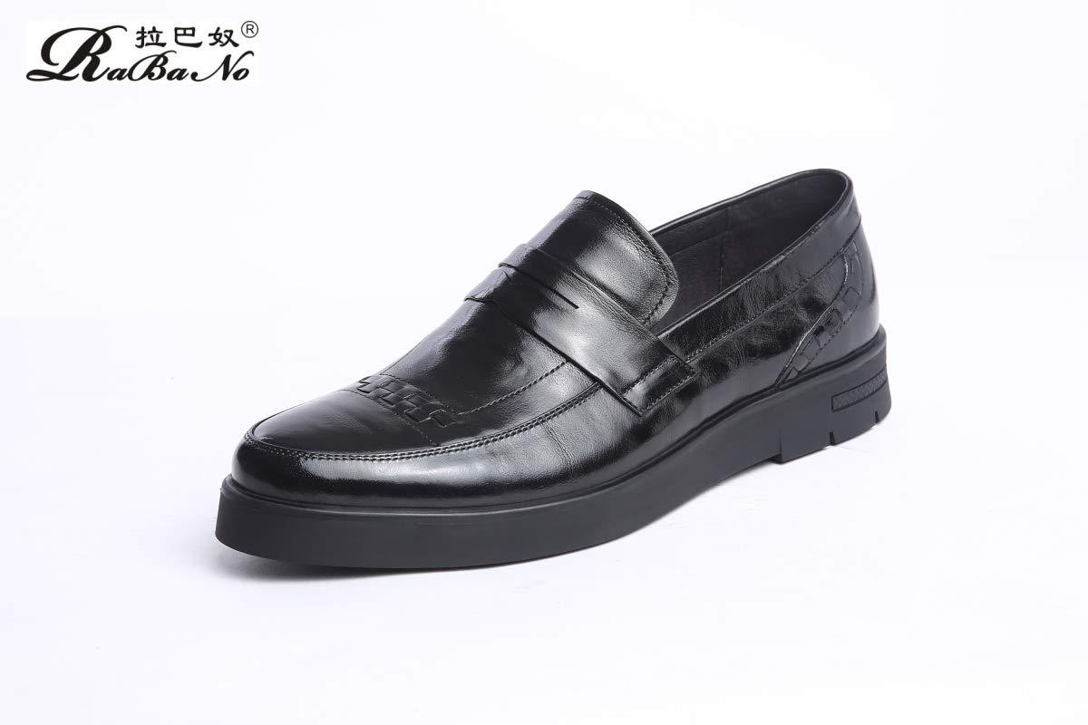 schwarz Leder Business Herrenschuhe Kleid Temperament Natürliches Leder Britische Wind Schuhe