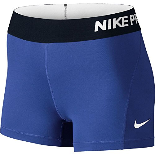 Nike Women's Pro Cool 3-Inch Training Shorts (Game Royal/Black/White/X-Small)