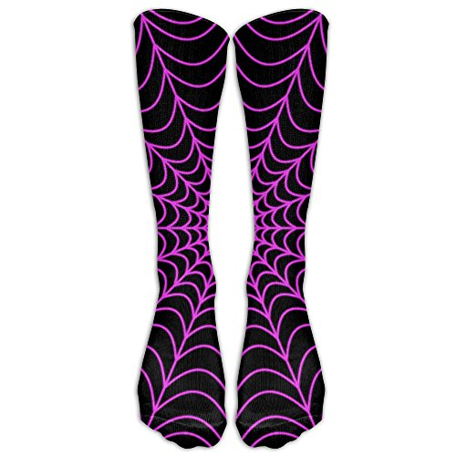 Halloween Spider Web Compression Socks Soccer Socks Knee High Socks For Running,Medical,Athletic,Edema,Diabetic,Varicose Veins,Travel,Pregnancy,Shin -