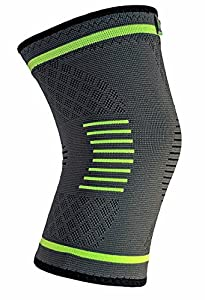 NatraCure Compression Knee Sleeve, Single Wrap - (Choose Size: S, M, L, XL) - Braces and Supports Knee for Pain Relief, Meniscus Tear, Arthritis, Injury, Running, and Joint Pain - Best Knee Sleeve