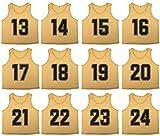 OSO Athletics - Juego de 12 camisetas de malla de poliéster con números de  primera calidad 11e1a7125254e