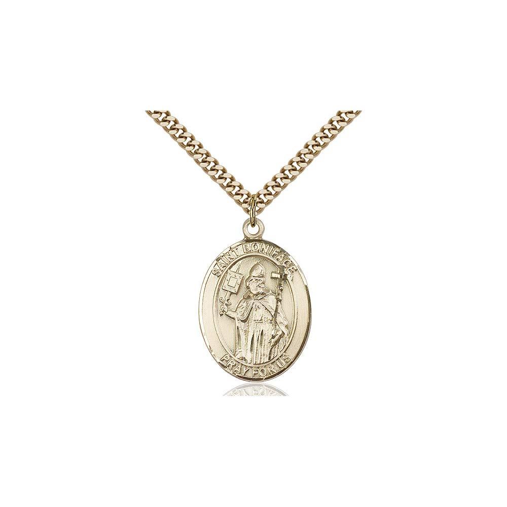 DiamondJewelryNY 14kt Gold Filled St Boniface Pendant
