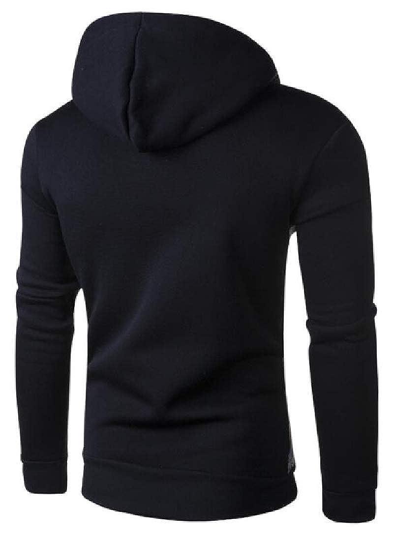Miracle Mens Classic Hooded Sweatshirt Ethnic Print Long Sleeve Hoodie Coat