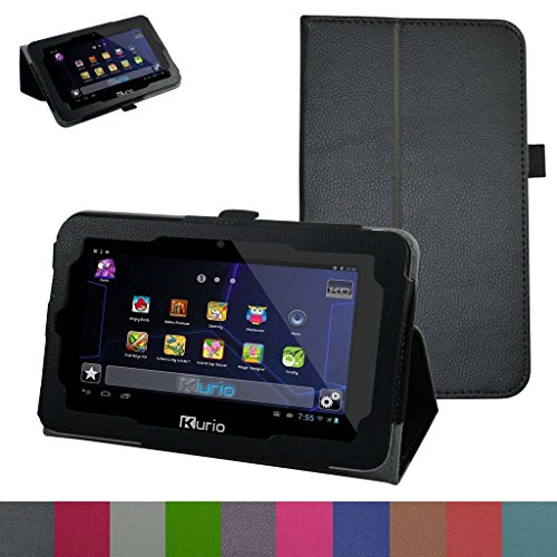 "Kurio Xtreme 2 Case,Mama Mouth PU Leather Folio 2-folding Stand Cover for 7"" 2015 Kurio Xtreme 2 Kids Tablet,Black"