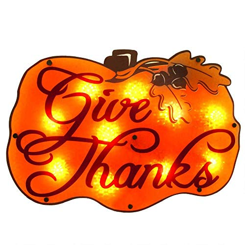 Outdoor Thanksgiving Decorations Lighted in US - 9