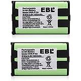 EBL 2 Packs 3.6V 1000mAh Home Phone Battery HHR-P104 HHR-P104A KX-FG6550 KX-FPG391 KX-TG2388B KX-TG2396 Panasonic Phone Replacement Battery