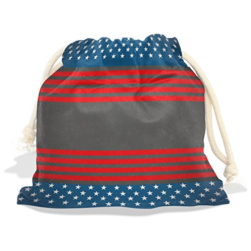 12' Vinyl Magnet Set (Vintage Distressed American Flag Velvet Drawstring Gift Bag Wrap Present Pouches Favor for Jewelry, Coin, Holiday, Birthday, Party, 5.5X5.5 Inches)