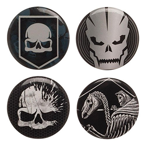 Call of Duty WWII Button Pin 4 Pack Set (Call of Duty) (List Of Call Of Duty Advanced Warfare Guns)