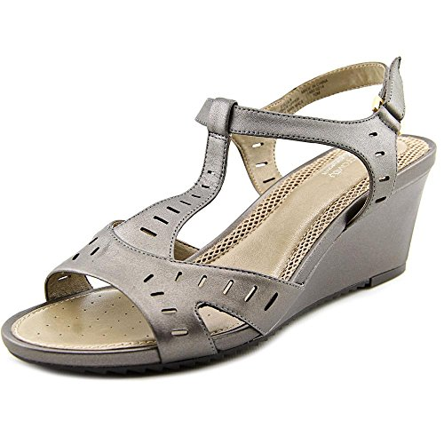 T Pewter Women's Sandals Wedge Easy Lula Strap Spirit qA0Z8t