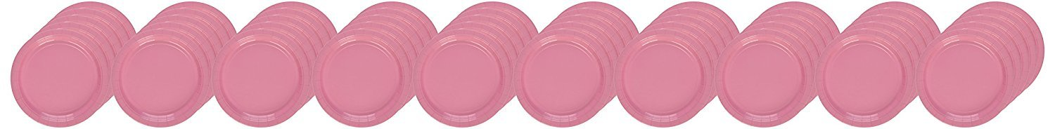 2 Pack of 50 Amscan Big Party Pack Pink 9 inches Paper Lunch Plates