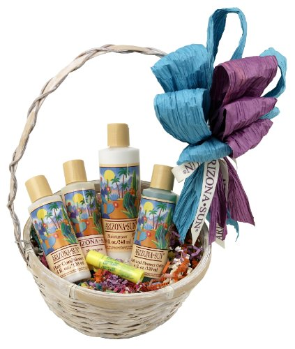 Arizona Sun Relaxation Gift Basket – Bath Products – Skin Care Idea – Soothing – Moisturizing – Relax – Great Gift For Anyone – Relaxing for Her – Any Occasion – Birthday - Holiday (Arizona Christmas Gift Baskets)