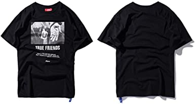 Hip Hop Camiseta Pistola de Mano Estampado de Verano Casual Tops ...