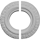 "Ekena Millwork CM09CL2 9""OD x 4 1/2""ID x 1/2""P Claremont Ceiling Medallion, Fits Canopies up to 5-5/8"", 2 Piece"
