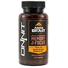 Alpha BRAIN (30ct) Shown to Help Support Memory and Focus by Onnit Labs