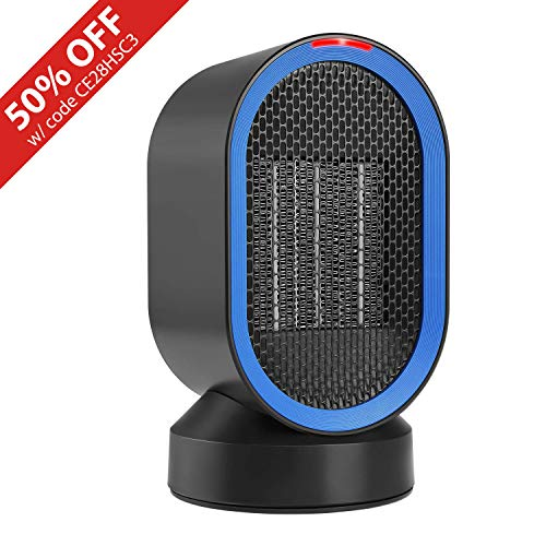 - Fitfirst Ceramic Space Heater, ETL Listed Portable Mini Desktop Heater Indoor Use, 2s Quick Heat-up, Ultra Quite, Auto-Oscillation for Office Table Home Dorm (600W)