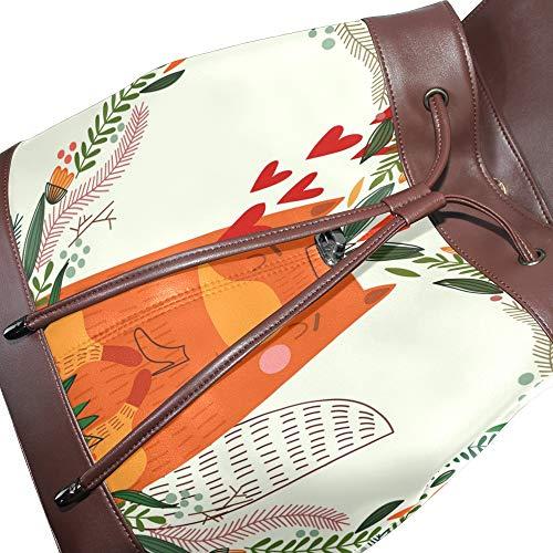 Dragonswordlinsu Piel Talla De Multicolor Para Mujer Mochila Bolso Única USwAxqU4