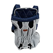 Surblue Front Chest Cat Dog Bike Carrier Legs out Puppy Pet Travel Backpack Puppy Tote Holder Bag Sling Outdoor Free Your Hands Lightgray