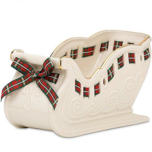 [Lenox Christmas Giftables Sleigh Candy Dish] (Christmas Sleigh Candy Dish)