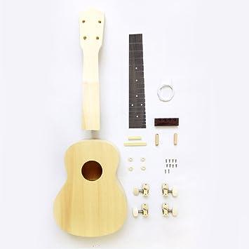 Zimo 23 Zoll Konzert Hawaii Ukulele Bausatz DIY Kit Machen Sie Ihre ...