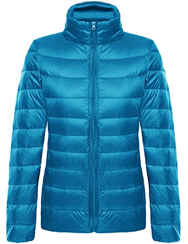Coat Jacket Down Puffer Quilted blue H Yeokou Packable Short Women's weight 8xgRw
