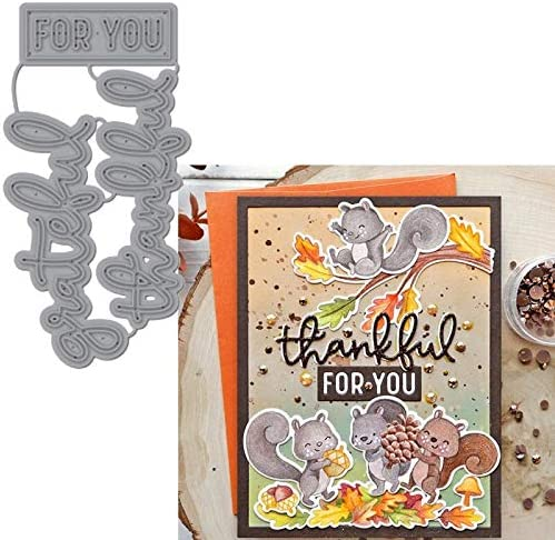 Amazon.com: Greatful Thankful For You Phrase Of Thanksgiving Metal Cutting Dies Stencils Die Cut For Card Making DIY New2019 Crafts Cards: Home Improvement
