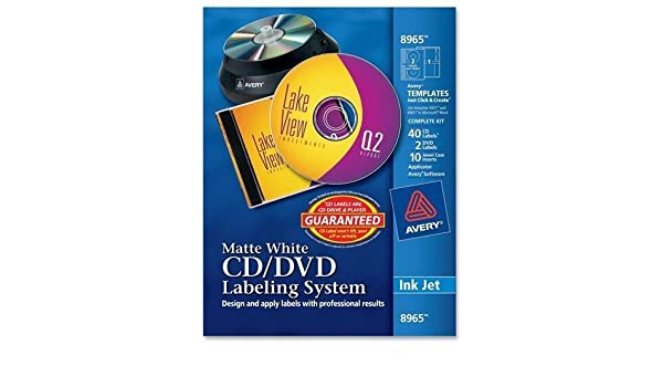 amazon com avery r inkjet cd dvd design kit 8965 labels and
