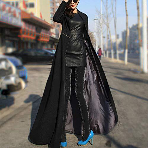 L'avant Capuche L'arrière En Être Noir Coupe Unie Portée Coton Amuster À vent Couleur Manteau Peut De Femme Et Veste q1wn7Yp6