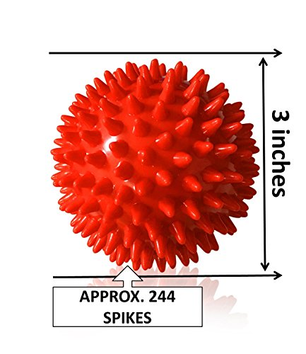 Jaguarro Fitness Experts Spiky Massage Ball Ideal Spike Ball for Deep Tissue Back Massage, Foot Massager, Plantar Fasciitis Pain Relief, Myofascial Release Compact Muscle Roller