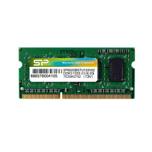 Silicon Power 2GB (1x2GB) DDR3-1333 PC3-10600 204-Pin SO-DIMM Notebook Memory Not a kit (Single) SP002GBSTU133V02 by Silicon Power (Image #2)