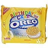Nabisco, Oreo, Birthday Cake Creme, Golden Cookie, 15.25oz Bag (Pack of 4)