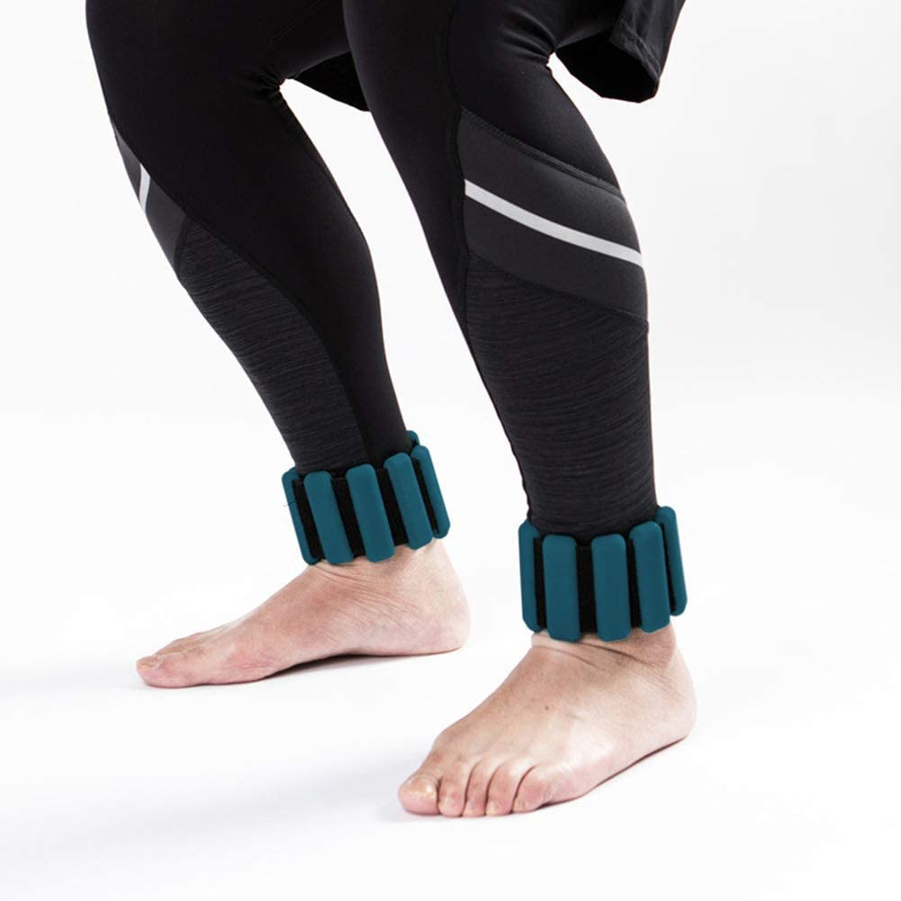 Gehen Sunronal Gewicht tragendes Armband Bewegung verstellbare Joggen 2-TLG Kn/öchelgewichtsring Intensivieren Sie Fitness haltbare Armb/änder mit Handgelenkgewicht