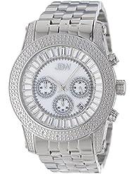 JBW Mens JB-6219-A Krypton Sliver Stainless Steel Chronograph Diamond Watch