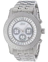 "JBW Men's JB-6219-A ""Krypton"" Sliver Stainless Steel Chronograph Diamond Watch"