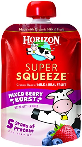 Horizon Organic Super Squeeze Pouch, Mixed Berry Burst, 4 Count