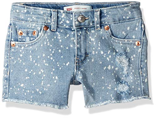 (Levi's Girls' Toddler Denim Shorty Shorts, Kingston Cut Off Off, 2T)