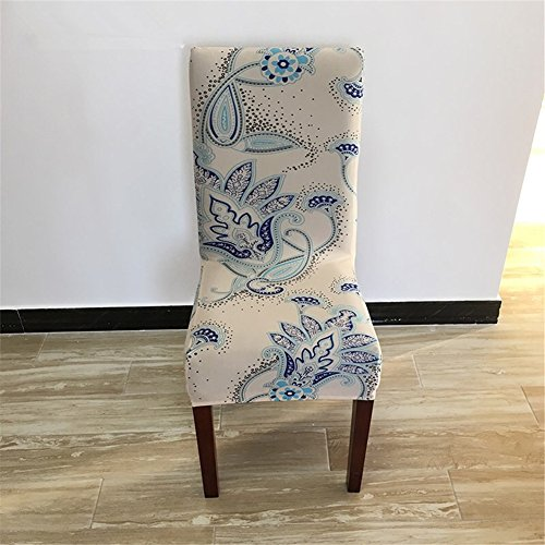 Super Fit Stretch Removable Washable Short Dining Chair Cover Protector Seat Slipcover for Hotel,Dining Room,Ceremony (Color 11)