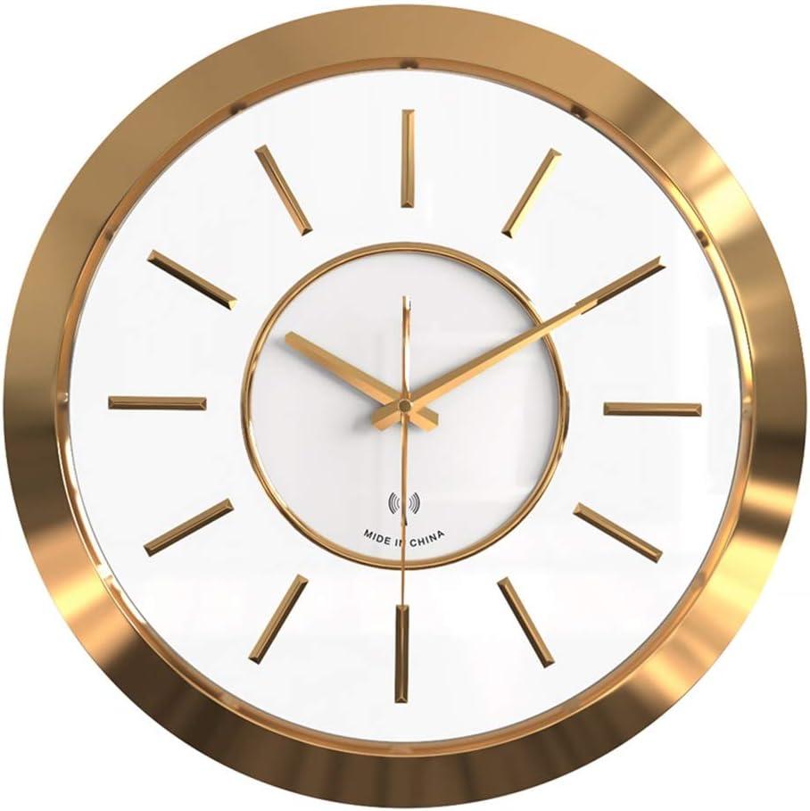 ZLX ゴールデン時計ウォールクロックリビングルーム時計クリエイティブ雰囲気現代の家庭のベッドルームクォーツ時計壁掛け時計40 * 40(cm)の 装飾として使用することができます