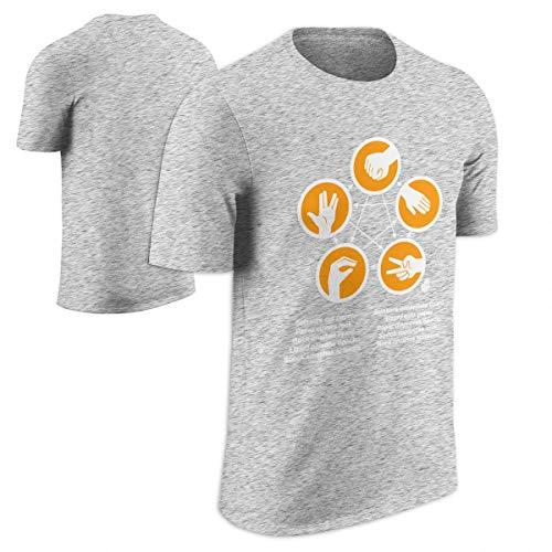 Officially Licensed Merchandise TBBT Sheldons Rock-Paper-Scissors-Lizard Game T-Shirt (Black)