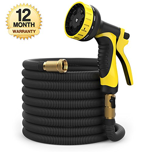 100 ft Hose - Expandable Garden Hose - Heavy Duty Flexible H