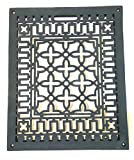 Vintage Old Style Rectangular Floor Grate Replica Medium Made of Solid Cast Iron