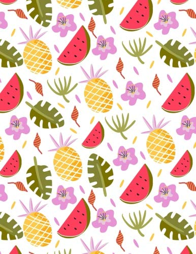 Watermelon Notebook Dot Grid: Cute Pineapple Fruit Bullets Notebook Dot Grid Sheet Dotted Paper Journal Book Doodling Drawing Sketching Journaling For ... Notebook (Letter,Large,8.5x11) (Volume 9)