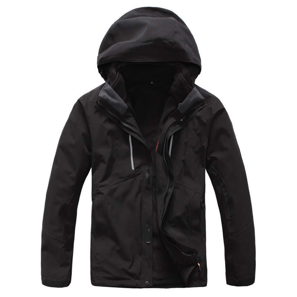 スキーウェア スノーボード 人の風邪の湿気および雪のための抵抗力がある屋外のジャケットのスノーボードのジャケット (色 : ブラック, サイズ : M) ブラック Medium
