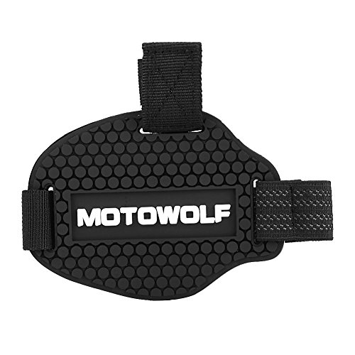 Motorcycle Gear Shift Pad, Keenso Rubber Gear Shift Shoes Boots Scuff Protector Shifter Guards Black -