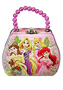 Disney princess purse shaped tin box with beaded handle toys games - Prinses pure ...