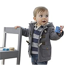 Toddler Baby Boys Warm Winter Hoodies Trench Coats Jacket Outwear Clothes