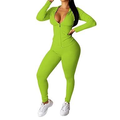 MXJEEIO 🔥 Mujer 2 Piezas Chándal Conjunto de Yoga, Moda Color ...