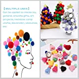 Pom Poms,1000pcs 0.4Inch Assorted Colors Pompoms